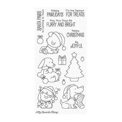 My Favorite Things Happy Pawlidays Clear Stamps