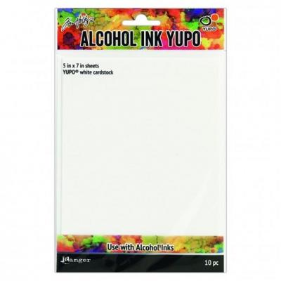 Ranger alcohol ink yupo paper white