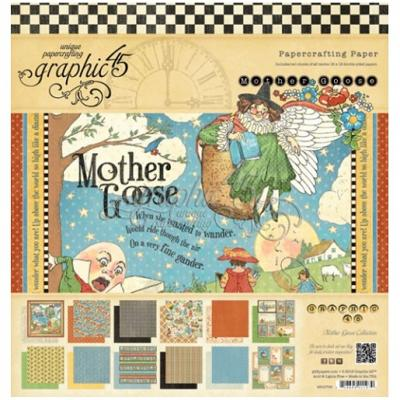 Graphic 45 Mother Goose 12x12 Inch Paper Pad