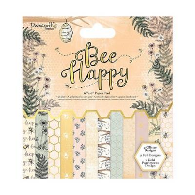 Dovecraft Bee Happy 6x6 Inch Paper Pad