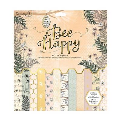 Dovecraft Bee Happy 12x12 Inch Paper Pad