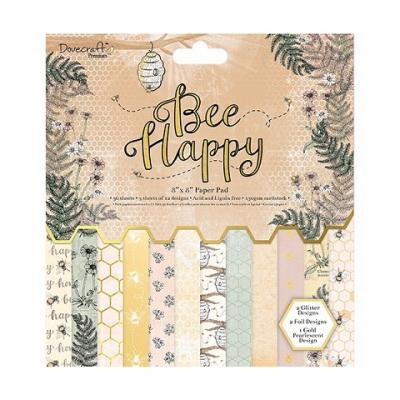 Dovecraft Bee Happy 8x8 Inch Paper Pad