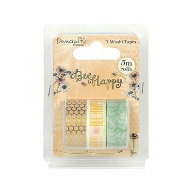 Dovecraft Bee Happy Washi Tapes (3 Stück)