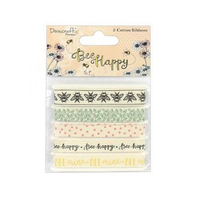 Dovecraft Bee Happy Cotton Ribbons