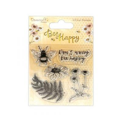 Dovecraft Bee Happy Clear Stamps (5pcs)