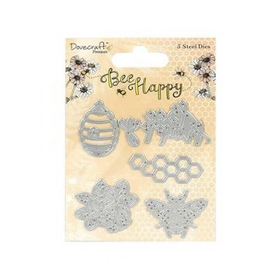Dovecraft Bee Happy Steel Dies (5pcs)