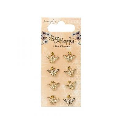 Dovecraft Bee Happy Bee Charms (8pcs)