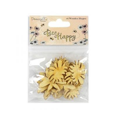Dovecraft Bee Happy Wooden Shapes (16pcs)