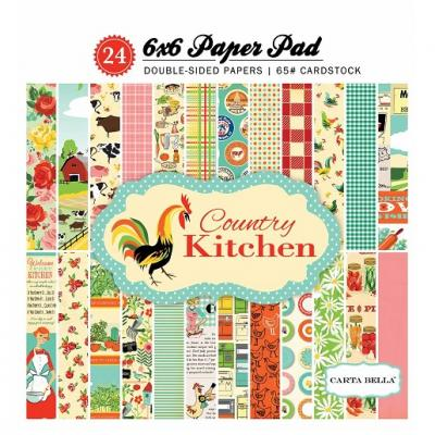 Carta Bella Country Kitchen 6x6 Inch Paper Pad