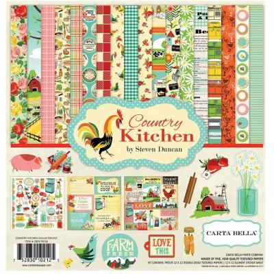 Carta Bella Country Kitchen 12x12 Inch Collection Kit