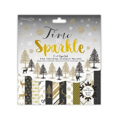 Dovecraft Time to Sparkle 8x8 Inch Paper Pad