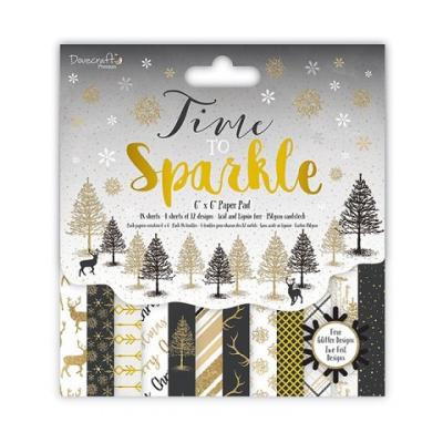 Dovecraft Time to Sparkle 6x6 Inch Paper Pad
