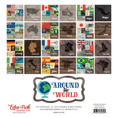 Echo Park Around The World 12x12 Inch Collection Kit