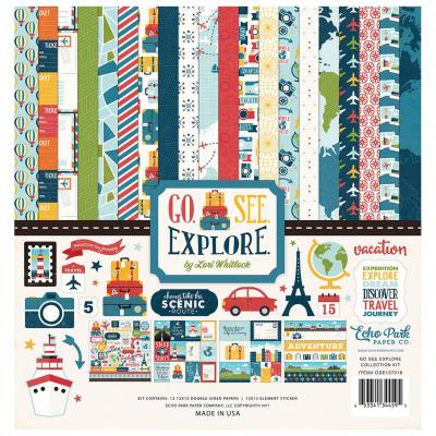Go. See. Explore - Collection Kit 12x12 inch