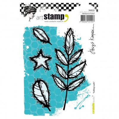 Carabelle cling stamp A6 falling leafs laub
