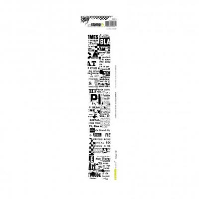 Carabelle cling stamp edge 29x5cm collage pub