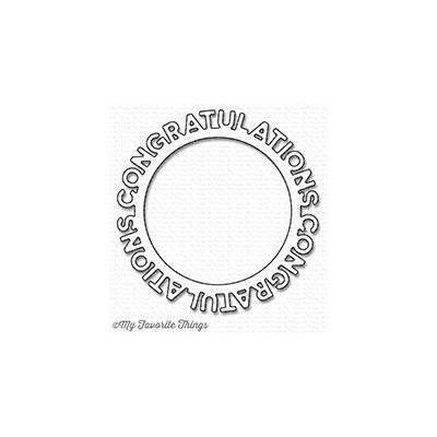 My Favorite Things Die-Namics Congratulations Circle Frame