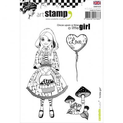 Carabelle stamp A6 a little girl
