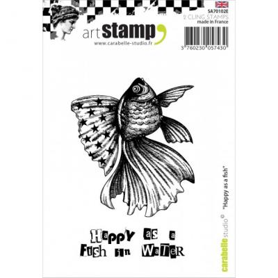 Carabelle stamp A7 happy as a fish