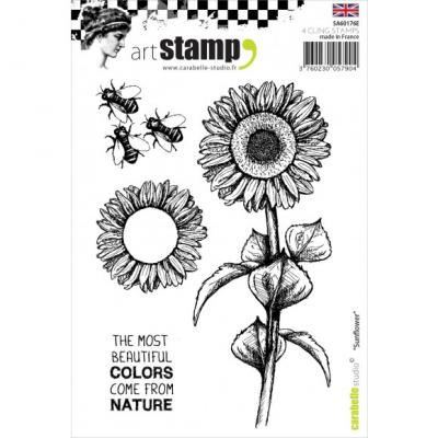Sonnenblume Carabelle stamp A6 sunflower