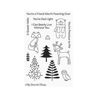 My Favorite Things Clear Stamp Friends In The Forest
