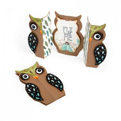 Thinlits Die Set Card, Owl Label Fold-a-Long