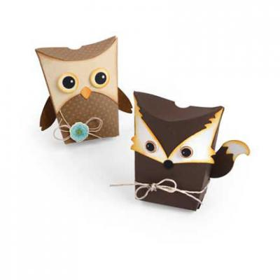 Thinlits Die Set Box, Owl & Fox