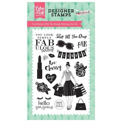 Stempelset Echo Park Fashionista Simply Fabulous Clear Stamps