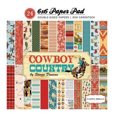 Carta Bella Cowboy Country 6x6 Inch Paper Pad