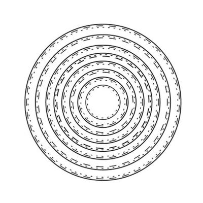 Stanzschablone Double Stitch Circle