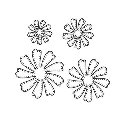 Stanzschablone Perfectly Layered Dotted Daisy
