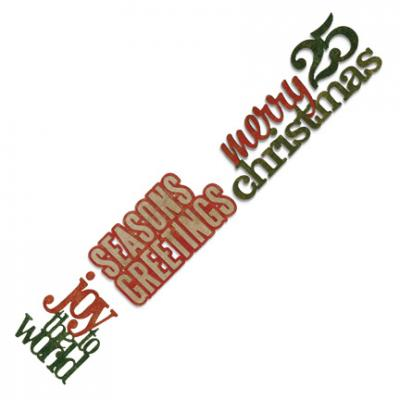 Tim Holtz - Sizzlits Decorative Strip Stacked Christmas Words