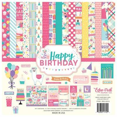 Echo Park Happy Birthday Girl 12x12 Inch Collection Kit