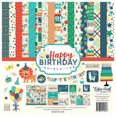 Happy Birthday Boy Echo Park 12x12 Inch Collection Kit