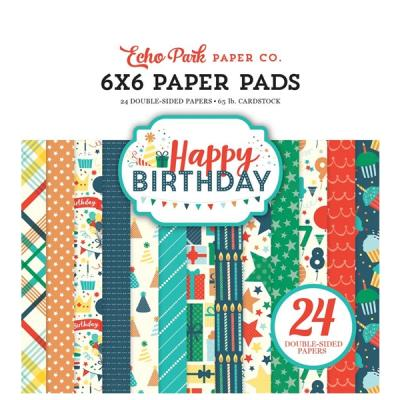 Happy Birthday Boy Echo Park 6x6 Inch Paper Pad