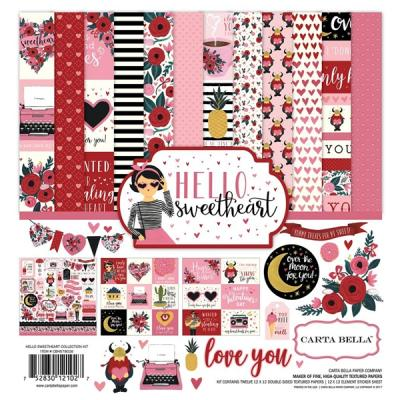 Carta Bella Hello Sweetheart 12x12 Inch Collection Kit
