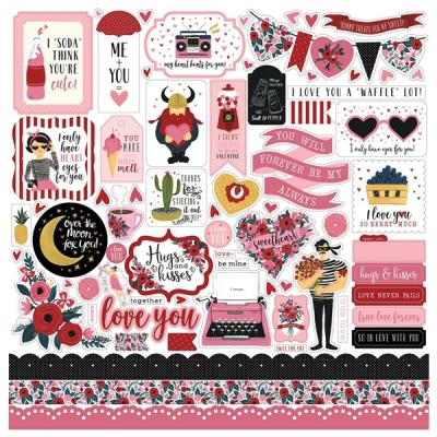 Carta Bella Hello Sweetheart 12x12 Inch Element Sticker