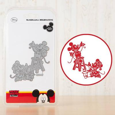 Stanzschablone Mickey Mouse und Freunde Vintage Panorama Decorating