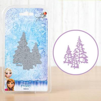 Disney Stanzschablone Frozen Trees