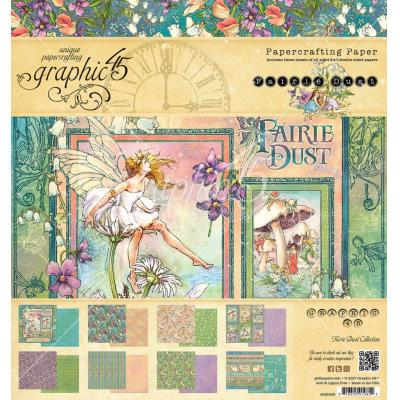Graphic 45 Fairie Dust 8x8 Inch Paper Pad