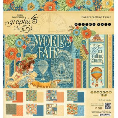 Graphic 45 World's Fair 8x8 Inch Paper Pad