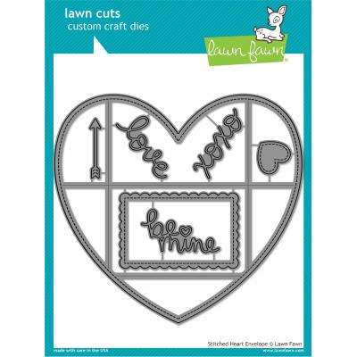 Lawn Cuts - Stitched Heart Envelope