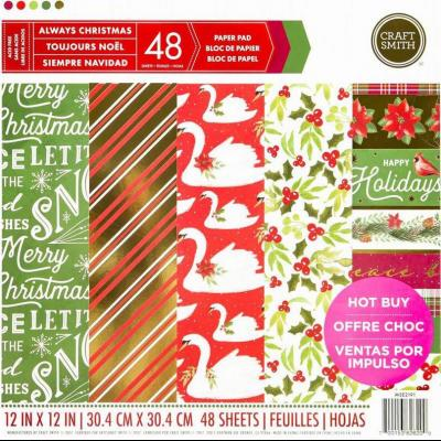 12x12 Inch Paper Pad Always Christmas