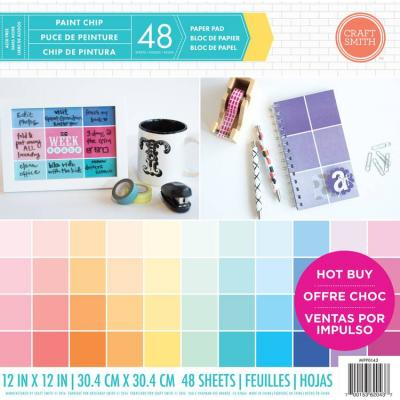 12x12 Inch Paper Pad Paint Chip