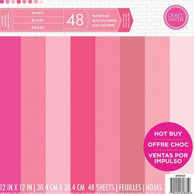12x12 Inch Paper Pad Pinks