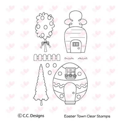 C. C. Designs Clear Stamp Easter Town