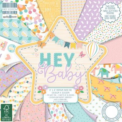 First Edition Hey Baby 8x8 Inch Paper Pad