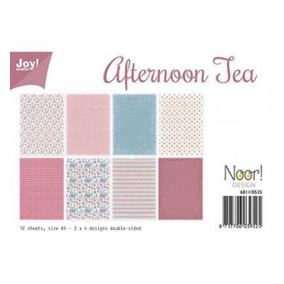 Afternoon tea Joy! Desingpapier DIN A4 12 Blatt