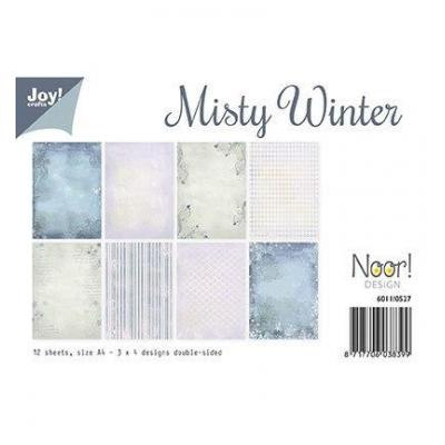 Misty Winter Joy! Desingpapier DIN A4 12 Blatt