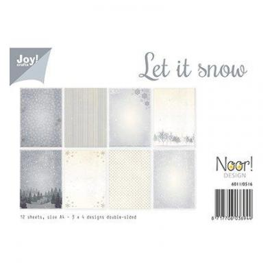 Let it Snow Joy! Desingpapier DIN A4 12 Blatt